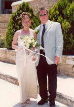 Caroline and Stephen tied the knot in Limassol, Cyprus