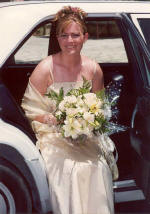 Caroline looking lovely at her wedding in Limassol, Cyprus