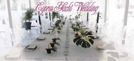 Cyprus yacht weddings - your wedding reception, stag, hen or bachelor party on board