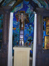 The alter in the The Columbia Beach Hotel Resort's Chapel