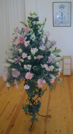 Passionate pinks as a wedding flower decoration