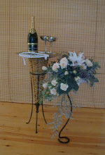A cause to celebrate - champagne and wedding flowers