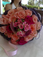 A rose bridal bouquet made by Cyprus flowers