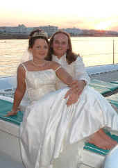 Suzanne and Mellville - Happy bride and groom in Cyprus - Delightful.