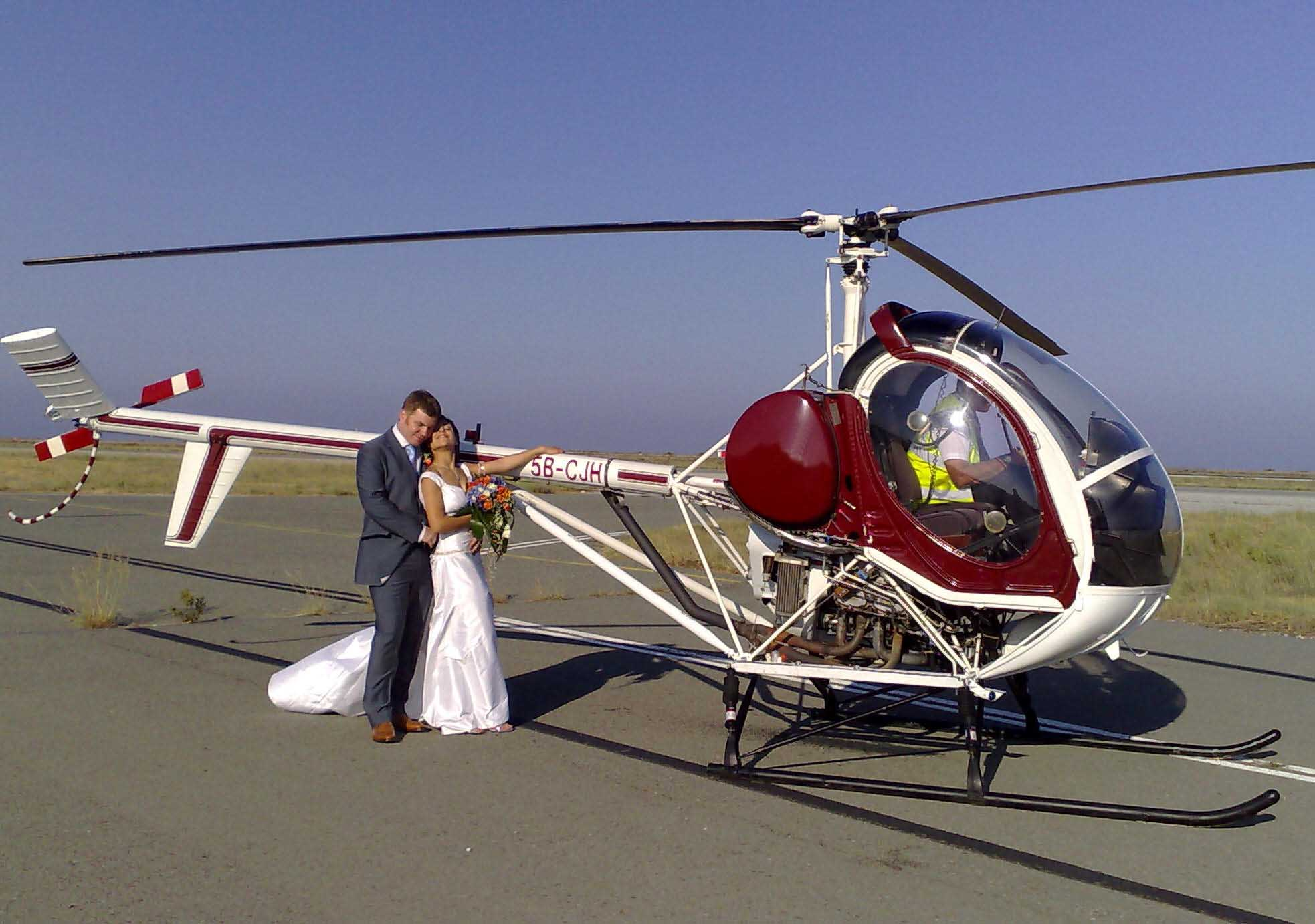 cyprus weddings helicopter transport or flights within cyprus