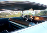 The interior of our 1959 Cadilac to take you to the church or registry office in Cyprus - pure Americana