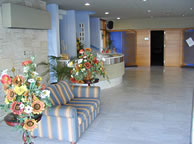 Paralimni Town hall registry office for a wedding in Cyprus - some flowers on display